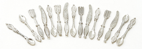 Dollhouse Miniature Silverware, 16Pk