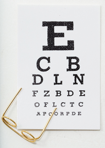 Dollhouse Miniature Eye Test Kit