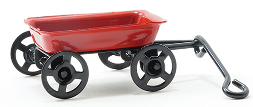Dollhouse Miniature Small Red Wagon