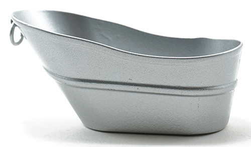 Dollhouse Miniature Metal Bathtub
