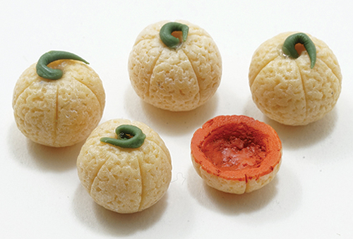 Dollhouse Miniature Cantaloupe, 5Pc