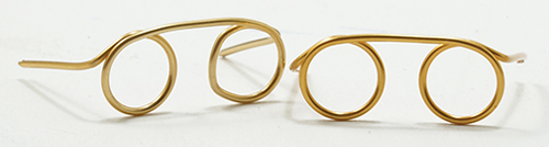 Dollhouse Miniature Gold Eyeglass Set/2
