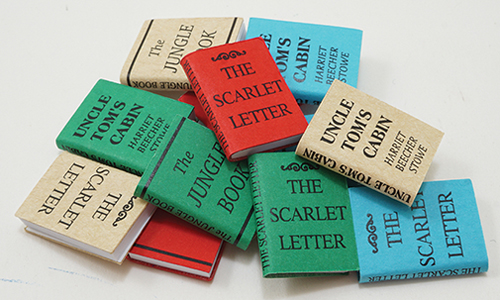 Dollhouse Miniature Books/12, Small W/Printed Covers Title A