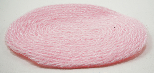 Dollhouse Miniature Pink Rug, Small