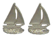 Dollhouse Miniature Sailboat Bookends Gold