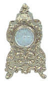 Dollhouse Miniature Fancy Gold Clock