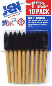 Dollhouse Miniature 1 In Sponge Brush, 10/Pk