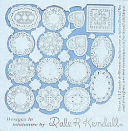 Dollhouse Miniature Assorted Doilies