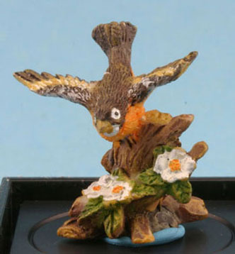 Dollhouse Miniature Robin (Hand Painted Bird Figure)