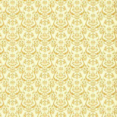 Dollhouse Miniature Wallpaper: Regency, Urn Gold