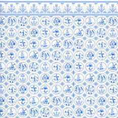 Dollhouse Miniature Wallpaper: Compact Dutch Tile