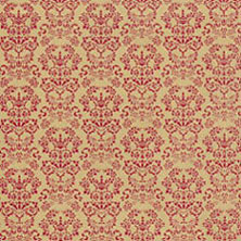 Dollhouse Miniature Wallpaper: Renaissance, Red On Gold