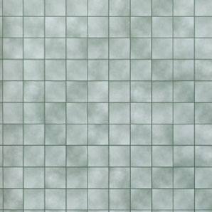 "Dollhouse Miniature Wallpaper:1/2"" Scale Green Marble Tiles"
