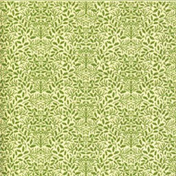 "Dollhouse Miniature Wallpaper:1/2"" Scale Acorns Green On Cream"