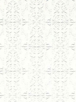 "Dollhouse Miniature Wallpaper:1/2"" Scale Embossed Ceiling, White"