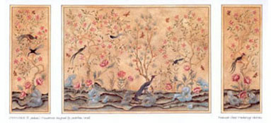 "Dollhouse Miniature Wallpaper:1/2"" Scale Chinoiserie Panels"