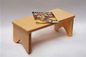 Dollhouse Miniature Bench