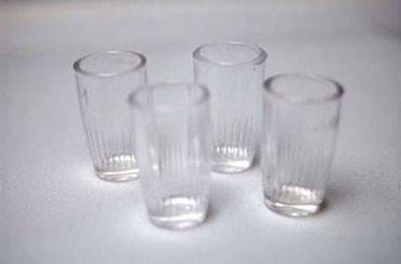 Dollhouse Miniature Plastic Tumblers, 4Pc