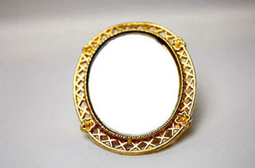 Dollhouse Miniature Gold Framed Mirror, Assorted