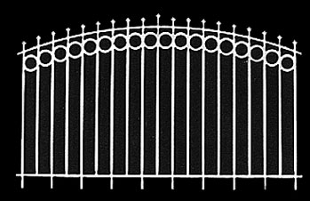 Dollhouse Miniature Fence: New Orleans, 2/Pk, 6 Inch