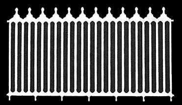 Dollhouse Miniature Fence: Victorian, 2/Pk, 6-1/4 Inch