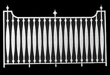 Dollhouse Miniature Fence: 6-1/8 W X 3-11/16 H, 2Pk
