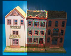 Dollhouse Miniature Row House
