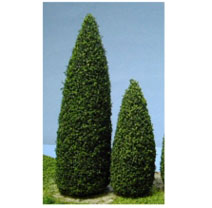 "Dollhouse Miniature Trees, Blue Spruce, 1.5"""", 10Pc"