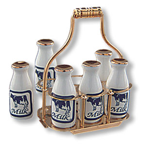 MILK BOTTLES withCARRIER
