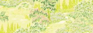 Dollhouse Miniature Wallpaper, Ruben's Garden, Yellow