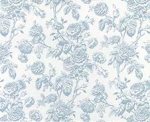 Dollhouse Miniature Wallpaper Tiffany, Lt Blue