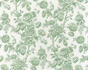 Dollhouse Miniature Wallpaper Tiffany, Seafoam