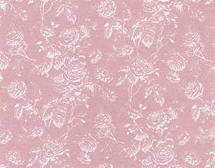 Dollhouse Miniature Wallpaper Tiffany Reverse, Rose