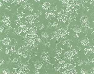 Dollhouse Miniature Wallpaper Tiffany Reverse, Seafoam