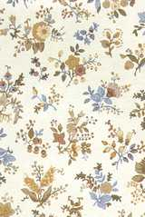 Dollhouse Miniature Wallpaper, Country French, Monique Beige