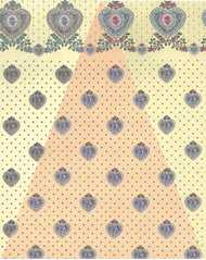 Dollhouse Miniature Wallpaper, Petite Heart, Yellow