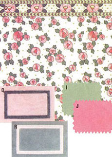 Dollhouse Miniature Wallpaper, Cottage Rose, Pink