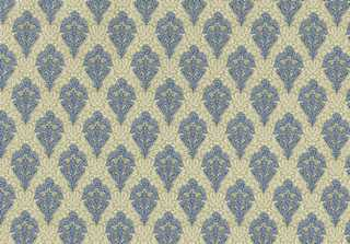 Dollhouse Miniature Wallpaper, Hobarth Blue
