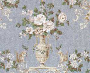 Dollhouse Miniature Wallpaper, Dubarry (Blue)