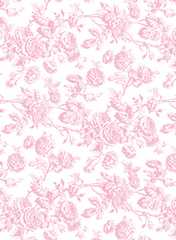 Dollhouse Miniature Wallpaper Tiffany, Pink