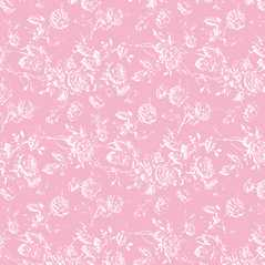 Dollhouse Miniature Wallpaper Tiffany Reverse, Pink