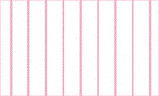 Dollhouse Miniature Wallpaper, White On, Pink
