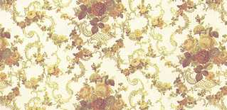 Dollhouse Miniature Wallpaper, Roosevelt Rose, Yellow