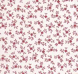 Dollhouse Miniature Wallpaper, Baby Breath Reverse, Burgundy