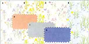 Dollhouse Miniature Wallpaper, Iris, Lilac