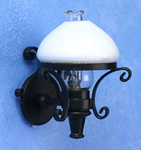 Dollhouse Miniature Americana Sconce, White Globe