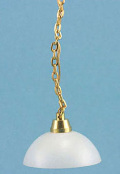 Dollhouse Miniature Hanging Lamp, White