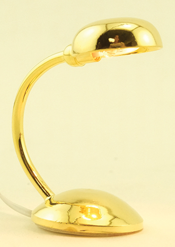 Dollhouse Miniature Brass Desk Lamp