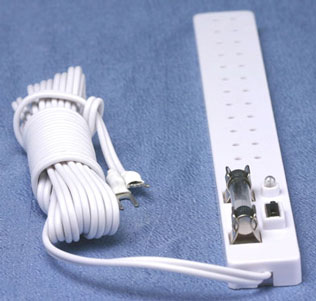 Dollhouse Miniature Power Strip with Switch, Fuse