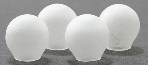 Dollhouse Miniature Frosted Glass Globes, 4/Pk
